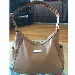 Michael Kors Tan Leather Braided Strap Bag